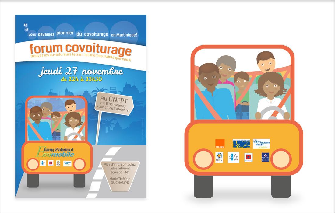 affiche covoiturage Martinique format A3
