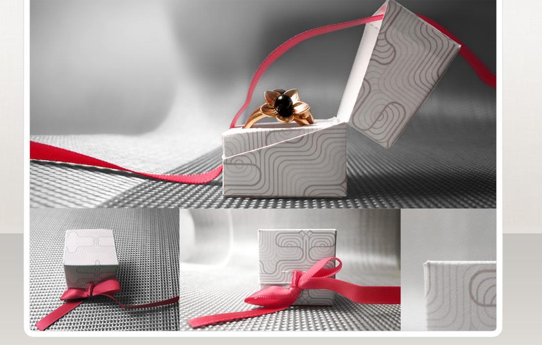 Boite bague en papier recycl design by coquelicom coquelicom da graphis - Boites archives design ...
