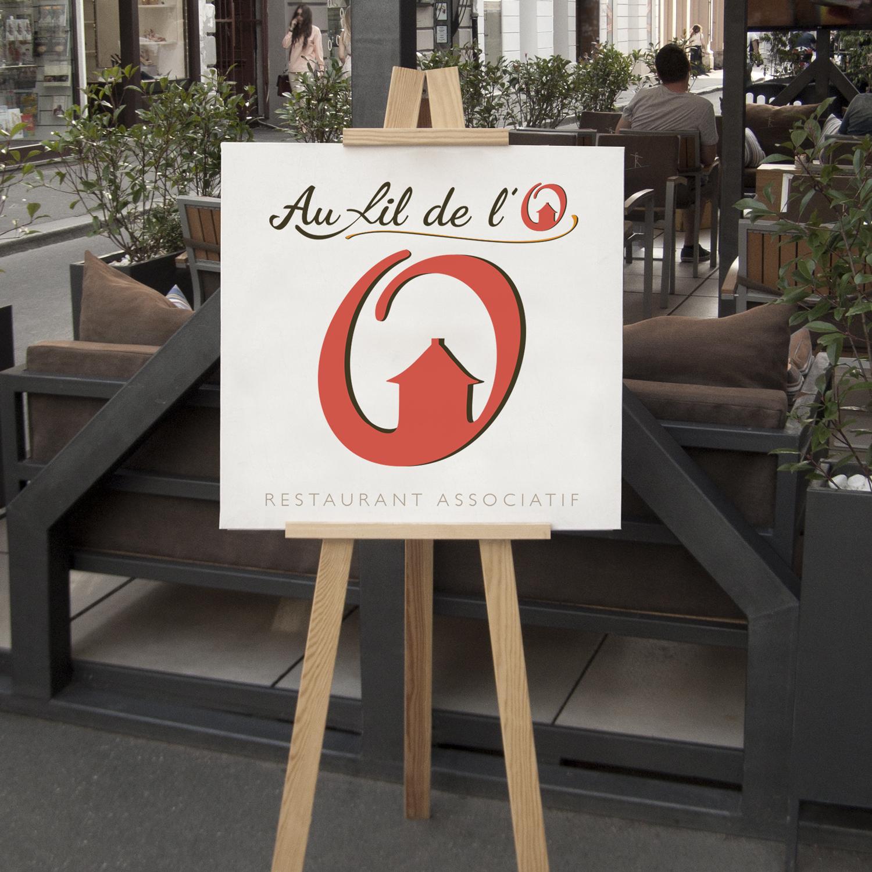 image création et de design du logo pour restaurant associatif et culturel à Toulouse