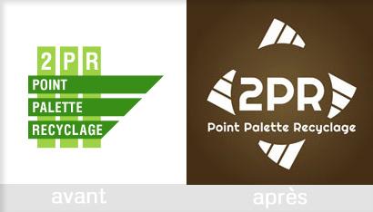 refonte logo recycleur palette bois