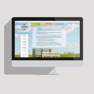 Image du site Internet de 2PR, vendeur de palettes en bois et recyclage