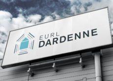 Image de façade avec logo pour entreprise du bâtiment à Aucamville