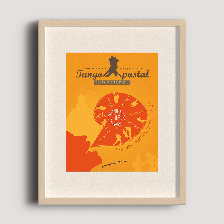 Image de l'affiche pour le festival de tango à Toulouse