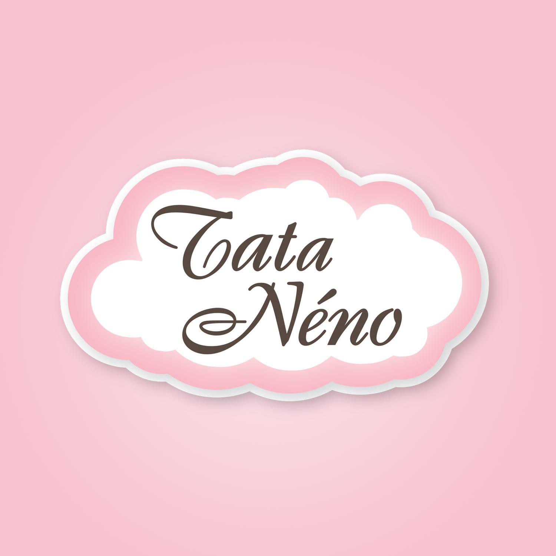 Image du logo rose et marron Tata Néno, marque de biscuits biologiques