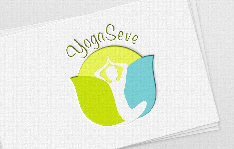 Création du logo de yogaseve, cours de yoga à Toulouse